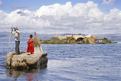 Ilha do povo de Uros